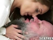 Grandpa Albert wants to taste hot Dominicas wet juicy cunt