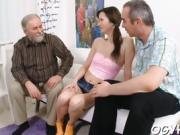 Fascinating young babe gives passionate ride to an old dude