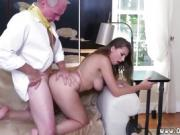 Hot old lady Ivy impresses with her large jugs and ass