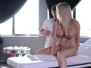 Cute big titted Rachele Richey gets an anal massage