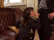Rough anal sex for office secretary with her older boss