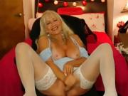 Naughty Blonde Whore Chatting Live With Her Admirers