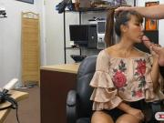 Big tits asian woman drilled by pawn man