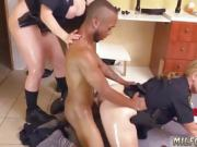 Blonde babe milf threesome first time Black Male squatting in