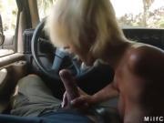Guy bangs soccer mom in his mini van