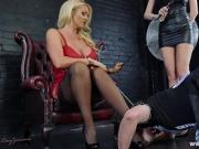 Mistress Lucy Zara Lilly Roma whip and humiliate sissy maid