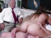 Old man ebony anal Ivy impresses with her large titties and