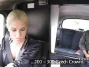 Blonde cab driver bangs big black cock