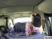 Horny Cindy have anal sex with the driver in the backseat
