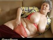 OmaPasS Old Horny Chubby Granny Solo Masturbation