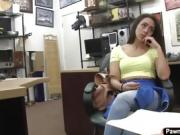 Latina babe Lilly Hall having sex with the pawnshop guy