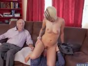 Old Duke banging Presley Carters pussy sideways