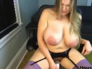 Large lactating breasts hairy pussy