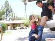 Pretty teen Kimmy Granger tries an outdoor anal sex