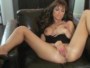 Twistys - Busty brunette Roxanne Milana rubs her pussy solo f