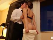 Japanese babe Mayu Nozomi gets fucked hard inside he hotel