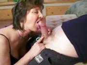 Blowjob from mature milf
