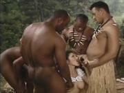 Girl Sucks The Tribesman's Dicks And Has Sex With Them