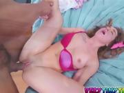 Horny chick Bambi Brooks getting banged by meaty pole