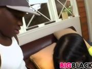 Rebeca Linares gets fucked by large black dick
