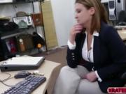 Good cash are filled into a cutie Blonde Business Lady