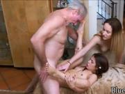 Teens get fucked by old man
