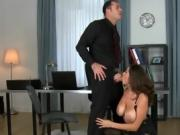 Sensual Secretary Gets Pleasured By Hung Boss