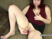 Sexy Red Headed Milf Plays With Her Cooter