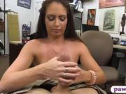 Nasty babe pawns her pussy and gets pounded by pawn guy