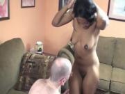 Ebony Chick With Delicious Tits Sucks A Cock