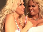 Two Busty Blonde Babes Use Sex Toys Together