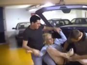Gang-bang on parking court