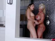 Blair Williams and Alura Jenson felling wet and wild