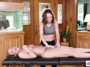 Masseuse Jade penetrates stressed clients pussy