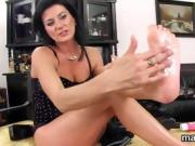 Frisky czech girl opens up her wet snatch to the extreme