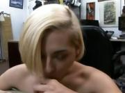 Blonde Dirtbag Stevie Six Sucking Dick In Pawn Shop Office