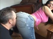 Cute Girl With Black Hair Fucked Hard Doggystyle
