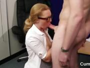 Wacky doll gets sperm load on her face gulping all the jism