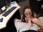 College girl pawns her pussy and banged to earn money