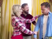 Hot milf starts sucking Kyle Masons huge cock