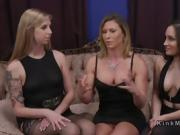 Lesbian butt sniffers got anal strap on