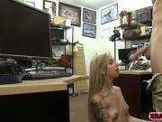 Pawndude fucks hard Hot Blonde Babe and pays her money