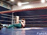 Finger banged euro wrestling on the floor