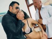 Stunning Cosette Ibarra is DP'd by two lucky studs