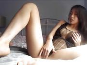 Asian Babe Masturbating and Riding Dildo - for more pornclubx