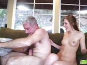 Dolly Leigh deep throat blowjob dads matured cock