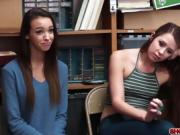 Teens Charity and Zoey got fucked for shoplifting