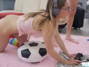 Hot teen Aften Opal gets banged while playing game