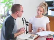 Emma Hix and Savana Styles dealing with a meaty hard cock