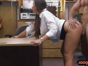Hot ass woman gets nailed by pawn dude at the pawnshop